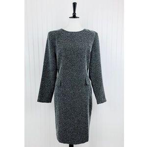 Chadwicks • Gray Tweed Pencil Dress • 12 [S0]